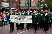 Singing Men of Ohio at Ohio University Homecoming Parade on Court Street on October 12, 2013.