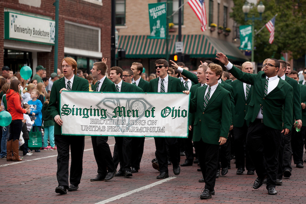 Singing Men of Ohio at Ohio University Homecoming Parade on Court Street on October 12, 2013.