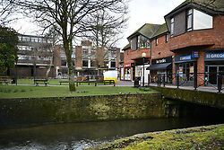 © Licensed to London News Pictures. 06/03/2018. Salisbury, UK. The scene near the Maltings shopping centre in Salisbury where former Russian spy Sergei Skripal and a woman in her 30s were taken ill with suspected poisoning. The couple where found unconscious on bench in Salisbury shopping centre. Specialist units have been called in to deal with any possible contamination. Photo credit: Ben Cawthra/LNP