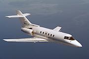 Hawker 800 in flight 3/4 view