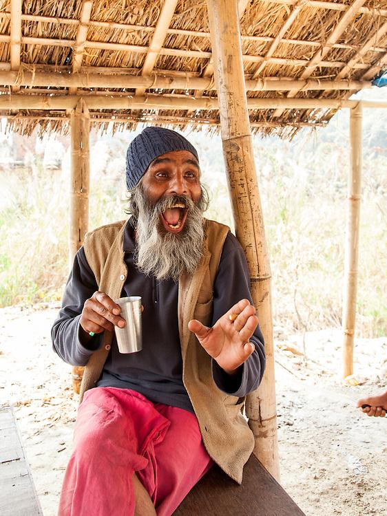 A Sadhu near Pokhara, Nepal telling a joke