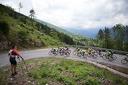 The grupetto rides  the day's main climb of Stage 2 of the Giro Rosa - a 122.2 km road race, between Zoppola and Montereale Valcellina on July 1, 2017, in Pordenone, Italy. (Photo by Balint Hamvas/Velofocus.com)