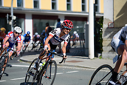Ashleigh Moolman Pasio (Cervélo Bigla) with a little over 10km to go in the chase at Thüringen Rundfarht 2016 - Stage 6 a 130 km road race starting and finishing in Schleiz, Germany on 20th July 2016.