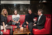 ANNA BADDELEY; FLEUR MACDONALD; COSMO LANDESMAN; TIM WILLIS; , Lynn Barber celebrates her 70th birthday and the publiction of ' A Curious Career. Hixter, 9a Devonshire Sq. London. 8 May 2014.