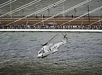 Rotterdam, 8 september 2018<br /> Wereld Havendagen<br /> De NH-90 Helikopter tijdens een demonstratie tijdens de Wereldhavendagen.
