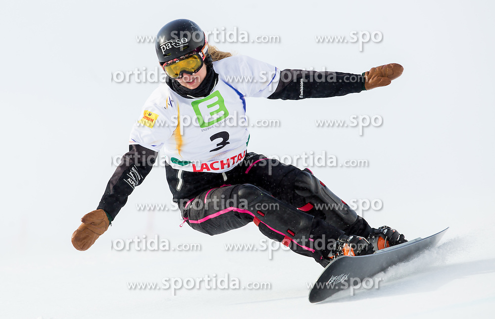 Patrizia Kummer of Switzerland  competes during 1/8 Finals of the Ladies' Parallel Giant Slalom at FIS World Championships of Snowboard and Freestyle 2015, on January 23, 2015 at the WM Piste in Lachtal, Austria. Photo by Vid Ponikvar / Sportida