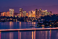 Bellevue Skyline & Lake Washington (Night)