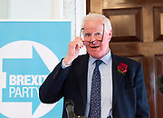 Brexit Party launch event<br /> Nigel Farage and Richard Tice, party chairman launch the next tranche of Brexit Party candidates at an event in London, Great Britain <br /> House Terrace<br /> 23rd April 2019<br /> <br /> New candidates standing for the Brexit Party in the European Parliament Elections in May 2019 <br /> <br /> Matthew Patten <br /> Charity Leader and CEO <br /> <br /> <br /> <br /> Photograph by Elliott Franks