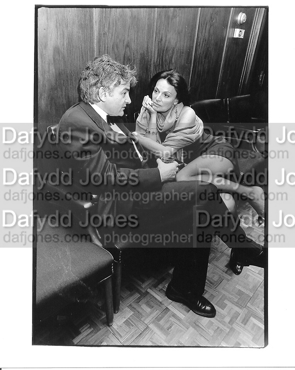 Brian McNally and Diane von Furstenberg. NY. 1994 approx. © Copyright Photograph by Dafydd Jones 66 Stockwell Park Rd. London SW9 0DA Tel 020 7733 0108 www.dafjones.com