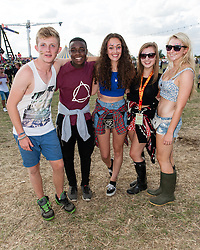 © Licensed to London News Pictures. 23/08/2014. Reading, UK.    Festival goers enjoy a day of live music at Reading Festival day 2 saturday. Photo credit : Richard Isaac/LNP