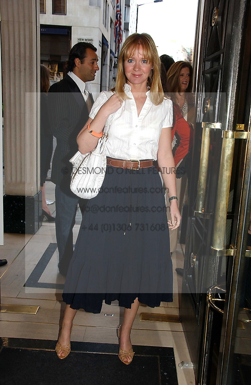 KATE REARDON at a party to celebrate the re-opening of the David Morris Flagship store at 180 New Bond Street, London on 14th June 2006.<br />