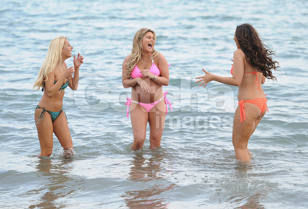 Ex on the Beach 3 star Holly Rickwood, Life On Marbs stars Jordan Sargeant and heavily pregnant Alex Weaver enjoy a day at the beach in Tenerife, Canary Islands. 16/02/2016<br />