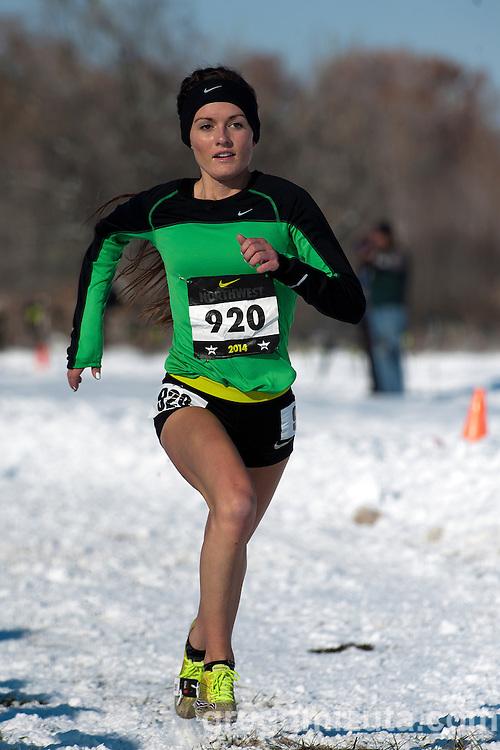 Lindsey Bradley, NXN Northwest girls championship race, November 15, 2014 at Eagle Island State Park, Eagle, Idaho.