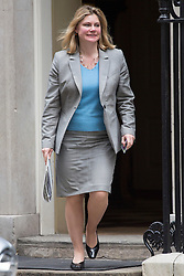 © licensed to London News Pictures. London, UK 16/04/2013. Secretary of State for International Development, Justine Greening leaving Downing Street after Cabinet meeting on Tuesday, 16 April 2013. Photo credit: Tolga Akmen/LNP