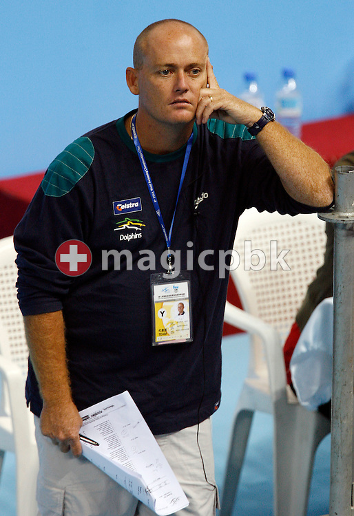 David Mason, media manager of the Australian Swimming team relaxes during day three of the 8th FINA World Swimming Championships (25m) held at Qi Zhong Stadium April 7th, 2006 in Shanghai, China. (Photo by Patrick B. Kraemer / MAGICPBK)