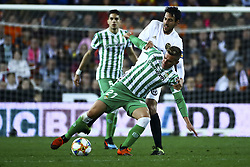 February 28, 2019 - Valencia, Spain - Giovanni Lo Celso of Real Betis Balompie (L) and Dani Parejo of Valencia CF   During Spanish King La Copa match between  Valencia cf vs Real Betis Balompie Second leg  at Mestalla Stadium on February 28, 2019. (Photo by Jose Miguel Fernandez/NurPhoto) (Credit Image: © Jose Miguel Fernandez/NurPhoto via ZUMA Press)