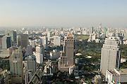 Bangkok skyline.