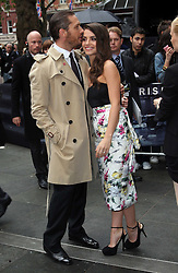Tom Hardy and Charlotte Riley at the premiere of The Dark Knight Rises in London, 18th July 2012. Photo by: Stephen Lock / i-Images<br />