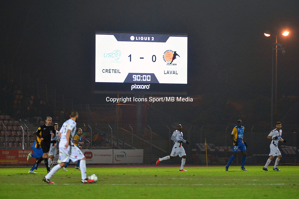 Score - 23.01.2015 - Creteil / Laval - 21eme journee de Ligue 2<br /> Photo : Dave Winter / Icon Sport