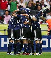 0:1 Jubel durch Robert Ayala Argentinien<br /> Fussball WM 2006 Viertelfinale Deutschland - Argentinien<br /> Tyskland - Argentina<br /> Norway only