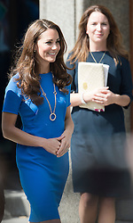 © Licensed to London News Pictures. 19/07/2012. London, UK. Catherine Duchess of Cambridge leaving the National Portrait Gallery on July 19, 2012 after attending a viewing of an exhibition titled 'BT Road To 2012: Aiming High'.  Highlights of the exhibition include portraits of gymnast Beth Tweddle and sprinter Jodie Williams. The exhibition opens today (19/07/2012) and runs to September 23 as Part of the London 2012 Festival. Photo credit : Ben Cawthra/LNP