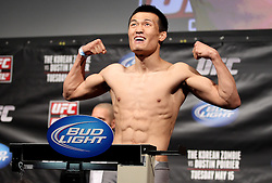 Fairfax, VA - May 14, 2012: Chan Sung Jung during the UFC on FUEL TV 3 weigh-in at the Patriot Center in Fairfax, Virginia.