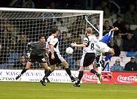 Photo: Alan Crowhurst. Luton Town v Peterborough United, Coca-Cola League One 25/09/2004. Curtis Woodhouse scores for Peterborough.