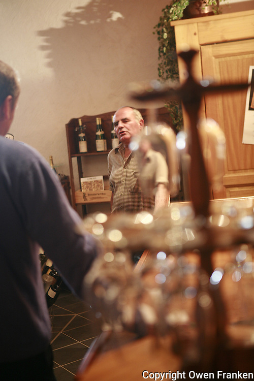 Muscadet winemaker Guy Bossard, in his winery......Photograph by Owen Franken
