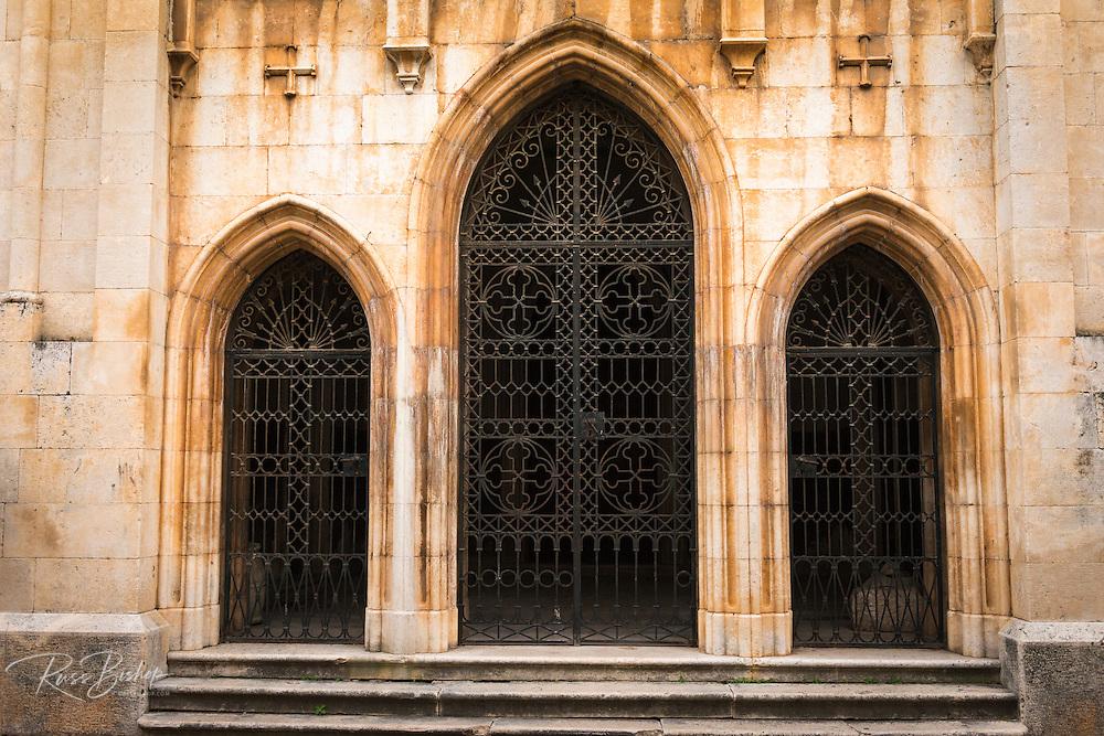 Entrance to the Church of St. Spiridon, Skradin, Dalmatia, Croatia
