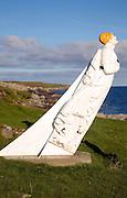 The White Wife statue, Otterswick, Yell, Shetland Islands