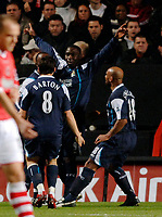 Photo: Daniel Hambury.<br />Charlton Athletic v Manchester City. Barclays Premiership.<br />04/12/2005.<br />City's Andrew Cole celebrates scoring the first goal.