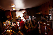 Organic farmer Joel Salatin and his wife prepare lunch at Polyface Farms in Swoope, Virginia on Monday, October 3, 2011.