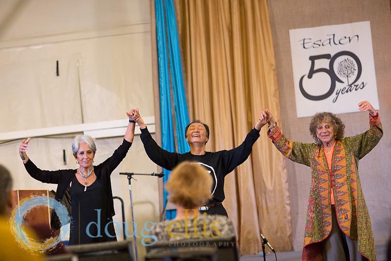 Esalen 50th anniversary celebration week, Big Sur CA.