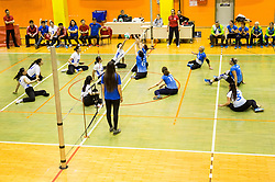 Players in action during friendly Sitting Volleyball match between National teams of Slovenia and China, on October 22, 2017 in Sempeter pri Zalcu, Slovenia. (Photo by Vid Ponikvar / Sportida)