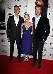 Johnny Perera, Jessica Chastain, Kris Thykier bei der Premiere von Miss Sloane in Los Angeles<br /> <br /> / 111116<br /> <br /> <br /> ***Premiere von Miss Sloane in Los Angeles on november 11, 2016***