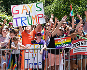 Pride March in New York City, New York on June 25, 2017.