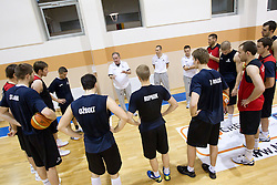 Bozidar Maljkovic, coach of Slovenia during practice session of Slovenia National basketball team at Eurobasket Lithuania 2011, on September 7, 2011, in Mykolo Romeris University,  Vilnius, Lithuania. (Photo by Vid Ponikvar / Sportida)