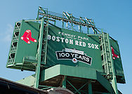 Back side of Fenway Park's scoreboard.