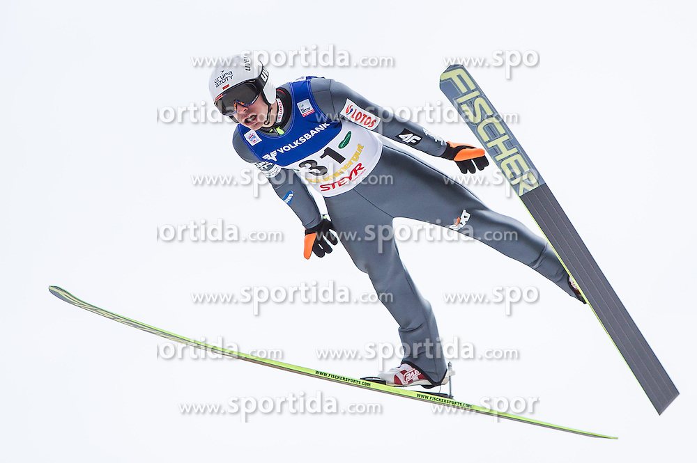 11.01.2014, Kulm, Bad Mitterndorf, AUT, FIS Ski Flug Weltcup, Bewerb, im Bild Piotr Zyla (POL) // Piotr Zyla (POL) during the FIS Ski Flying World Cup at the Kulm, Bad Mitterndorf, Austria on <br /> 2014/01/11, EXPA Pictures &copy; 2014, PhotoCredit: EXPA/ JFK
