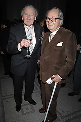 Left to right, actors LESLIE PHILLIPS and PETER SALLIS at the Orion Publishing Groups Authors party held at the V&A museum, Cromwell Road, London on 15th February 2007.<br />