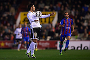 VALENCIA, SPAIN - MARCH 02: Víctor Ruiz of Valencia CF in action during the Liga BBVA between Valencia CF and Levante UD at the Mestalla stadium on March 02, 2013 in Valencia, Spain. (Photo by Aitor Alcalde Colomer).