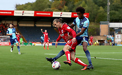 Luke Freeman of Bristol City holds off Sido Jombati of Wycombe Wanderers - Mandatory by-line: Robbie Stephenson/JMP - 09/08/2016 - FOOTBALL - Adams Park - High Wycombe, England - Wycombe Wanderers v Bristol City - EFL League Cup