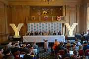 A general view during the Eve of tour press conference ahead of the first stage of the Tour de Yorkshire in the Leeds Civic Hall, Leeds, United Kingdom on 1 May 2019.