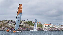 8th July 2017. GKSS Match Cup Sweden, finals, Phil Robertson, China One Ningbo (orange boat), vs Taylor Canfield, US One (grey boat). Marstrand, Sweden.