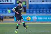 Forest Green Rovers Gavin Gunning(16) passes the ball forward during the EFL Sky Bet League 2 match between Mansfield Town and Forest Green Rovers at the One Call Stadium, Mansfield, England on 23 February 2019.