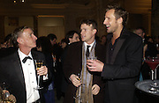 Jasper Conran, Jono Wolf and Jeremy Sheffield. British Fashion awards 2005. V. & A. Museum. Cromwell Rd. London.   10  November 2005 . ONE TIME USE ONLY - DO NOT ARCHIVE © Copyright Photograph by Dafydd Jones 66 Stockwell Park Rd. London SW9 0DA Tel 020 7733 0108 www.dafjones.com