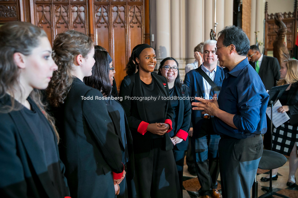 6/11/17 2:19:18 PM --  Chicago, IL<br /> The Negaunee Music Institute at the Chicago Symphony Orchestra <br /> <br /> Yo-Yo Ma Presents a Concert for Peace <br /> Presented in partnership with St. Sabina Church<br /> <br />  &copy;&nbsp;Todd Rosenberg Photography 2017
