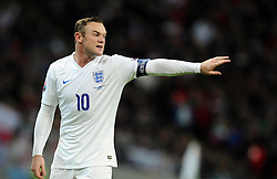 Wayne Rooney of England (Manchester United)  - Photo mandatory by-line: Joe Meredith/JMP - Mobile: 07966 386802 - 15/11/2014 - SPORT - Football - London - Wembley - England v Slovenia - EURO 2016 Qualifier