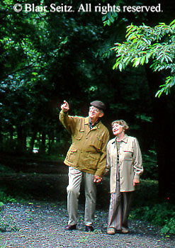 Active Aging Senior Citizens, Retired, Activities, Walking in Nature