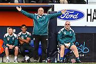 John Still Manager  of Luton Town shows his frustration at not getting a free-kick awarded during the Sky Bet League 2 match at Kenilworth Road, Luton<br /> Picture by David Horn/Focus Images Ltd +44 7545 970036<br /> 16/08/2014
